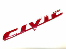 "New 06-11 Honda Civic Rear Red ""CIVIC"" Car Emblem 3m Tape USA EX LX SI"