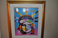 Peter Max, Delta - Liberty - Original Mixed Media with Acrylic Signed in Acrylic