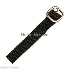 Busse Top Quality Perlon (Nylon) Spur Straps, Black, Stainless Steel Buckles