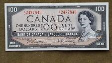 Canadian 1954 $100 Beattie Razminsky banknote