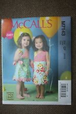 McCall's Sewing Pattern Toddler's Dress Size 4-5-6
