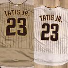 Fernando Tatis Jr. #23 Men's San Diego Padres White/Tan Stitched Jersey