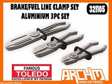 TOLEDO 321105 - BRAKE/FUEL LINE CLAMP SET - ALUMINIUM 3 PC SET - RESTRICT FLOW