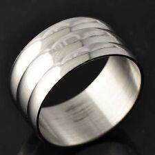 D4575 Decent White Gold Filled Men's /Unisex Band Ring Size 8.5#