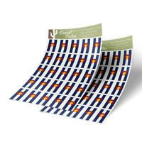 Colorado Flag Sticker Decal 1 Inch Rectangle Two Sheets 50 Total Stickers