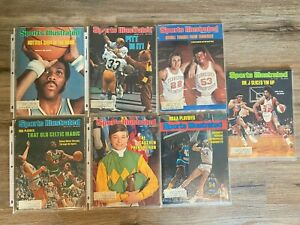 Lot of (7) 1976/1977 sports illustrated magazines.