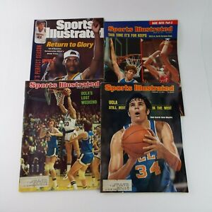 Sports Illustrated Magazine 1970s/90s NCAA College Basketball UCLA Lot Of 4