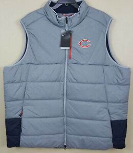 NIKE CHICAGO BEARS TEAM ISSUED DOWN PUFFER VEST GREY RARE 852825-052 (SIZE 4XLT)