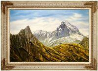 Ölbild Saalfelden Hundstod Berglandschaft Bergspitze HANDGEMALT F:60x90cm