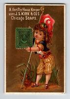 Turkey Stamp on Chicago Soap Advert Card Circa 1900  - Z13089