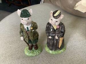 Beswick Gentleman & Lady Pig