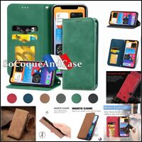Etui Coque Housse VINTAGE Cuir PU Leather Wallet Case Cover iPhone 12 Collection