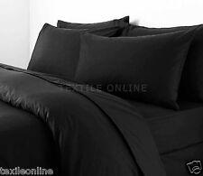 Plain Dyed Duvet Quilt Cover With Pillow Case Bedding Set Single, Double & King