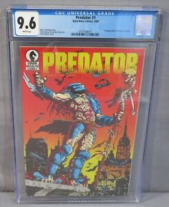 PREDATOR #1 (First appearance in Comics) CGC 9.6 NM+ Dark Horse 1989 White Pages