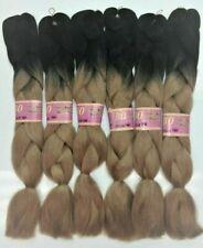 "[6PACKS]24"" 100% Kanekalon Jumbo Braiding hair Extensions Box Twist Ombre Colors"