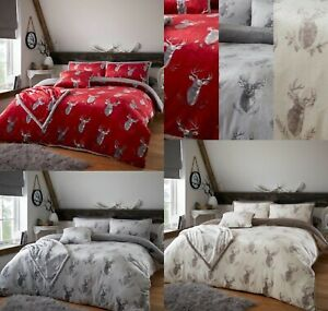 Teddy CHRISTMAS MURRY STAG Duvet Cover Quilt Cover Thermal Warm Soft Bedding