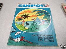 JOURNAL REVUE HEBDOMADAIRE SPIROU N° 1604 couverture PEYO LES SCHTROUMFS *