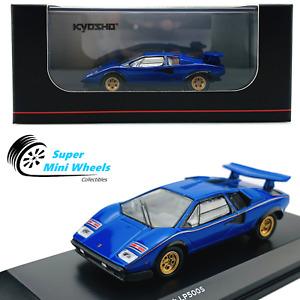 Kyosho 1:64 - Lamborghini Countach LP500 S - Blue - Diecast Model