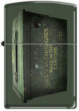 Zippo 221 Ammo Crate Can Green Matte Windproof NEW RARE Lighter