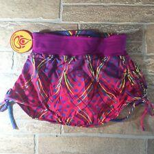 SHAKTI NWT Hot Yoga Bikram Shorts Sz. M Skirt Purple Print Breathe Brazil K-18