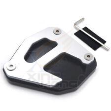 Black CNC Side Stand Foot Kickstand Extend Pad for Kawasaki KLR650 2008-2019