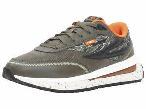 Fila Men's Renno Sneakers Camo/Chive/Red Orange
