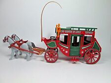 1994 Playmobil 4399 Western Stagecoach w/ Horses & Whip  NEW Loose Out Of Box