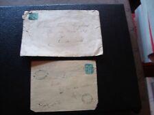 FRANCE - 2 enveloppes 1878/1881 (timbre yvert et tellier n° 75 tout etat) (B16)