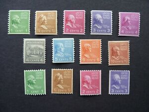 UNITED STATES. 1939 PRESIDENTAL SERIES. COIL STAMPS SG 832 - 844. MLH