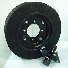 """Cutter Tail Wheel & Hub Assembly Bush Hog 15"""" Wheel 4 Bolt Hub 3/4"""" Shaft"""