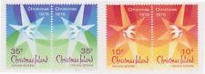 (K118-108) 1976 Christmas Island 10c &35c Christmas pairs MUH (DP)