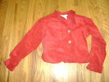 AMERICAN GIRL TOP CARDIGAN SHIRT for GIRLS size 6 DARK RED COTTON RETIRED RARE