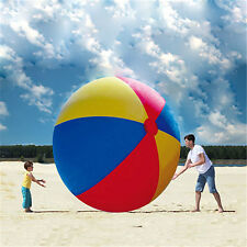 Over Sized Giant Huge 3 Multi Color Inflatable Beach Ball Party Play Game Toy 2M