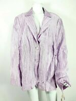 NEW Riona Stone UK 26 Linen Blend Purple / Lilac Jacket Lagenlook / Boho