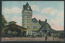 VA Newport News LITHO 10's CHESAPEAKE & OHIO RAILWAY STATION & Pier C&O RR Depot