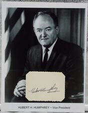 Hubert Humphrey Autograph Vice President Lyndon Johnson Minnesota Senator Mayor