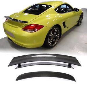 For Porsche 718 Cayman Coupe 05-12 Real Carbon Fiber Rear Trunk Spoiler Wing Lip