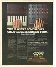 1977 Teac Tascam Series Mixers Recorders Vtg Print Ad