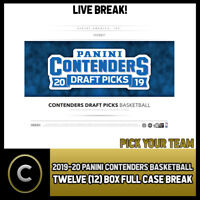 2019-20 PANINI CONTENDERS DRAFT 12 BOX FULL CASE BREAK #B232 - PICK YOUR TEAM