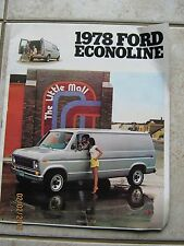 1978 Ford Econoline Chateau Club Wagon Van ORIGINAL Factory