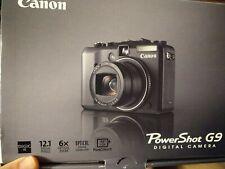 Canon PowerShot G9 12.1 Mp 6x Zoom Digital Camera Black w/ Accessories