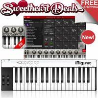 IK Multimedia iRig Keys Pro - 37-Key USB MIDI Keyboard Software Controller