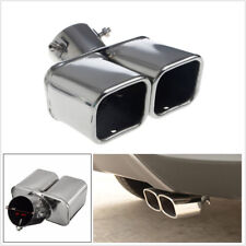 """Universal 2.5"""" Stainless Steel Dual Chrome CURVED Car Exhaust Pipe Muffler Tip"""