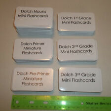 Entire Miniature Dolch Sight Word Set.  315 laminated cards. 3.5x2.0 Nouns, sigh