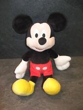 peluche doudou mickey noir rouge jaune 32 cm disney état neuf