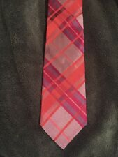 Ted Baker Silk Fuchsia Pink Striped Pattern Silk Tie | Mens Necktie