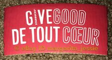 """STARBUCKS COFFEE PAPER SLEEVE """"GIVE GOOD"""" Red NEW 2017 CANADA ENGLISH/FRENCH"""