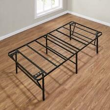 High Profile Twin Size Folding Steel Bed Frame, 18 Inch Tall Durable Bed Frame