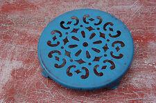 ANCIEN DESSOUS DE PLAT EN TOLE EMAILLEE BLEU 20 cm de diamètre----//A3//