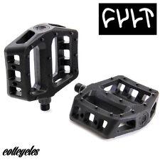 NUOVO! culto PC pedali Bmx in plastica nera pedali